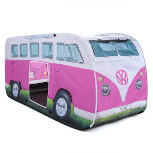 OL0180 VW camper van kids pop up play tent pink 2