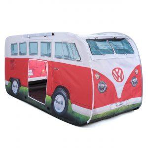 OL0180 VW camper van kids pop up play tent titan red 2
