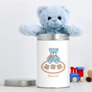 Blue Tin Teddy