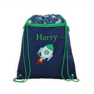 My 1St Years Personalised Space Print Drawstring Bag £18 00 At Www My1Styears Com
