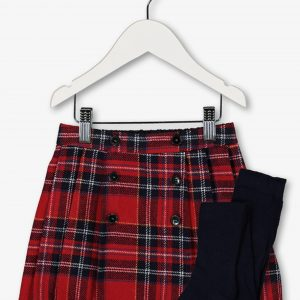 Tu Checked Skirt And Tights Set £10