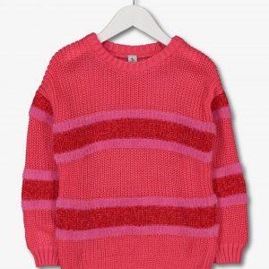 Tu Pink And Red Stripe Jumper £10